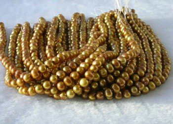 "wholesale 16"""" 7-8mm coffee pearl necklace strings"