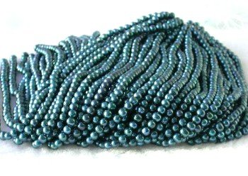 "wholesale 16"""" 6-7mm dark blue pearl necklace strings"