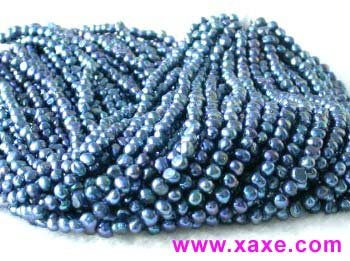 "wholesale 16"""" 6-7mm blue pearl necklace strings"