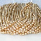 """wholesale 16"""""""" 6-7mm yellow pearl necklace strings"""