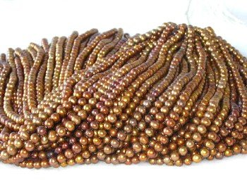 "wholesale 16"""" 6-7mm coffee pearl necklace strings"