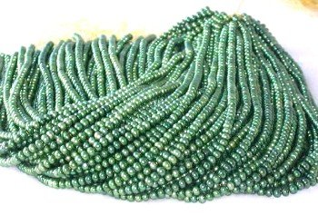 """wholesale 16"""""""" 5-6mm green pearl necklace strings"""