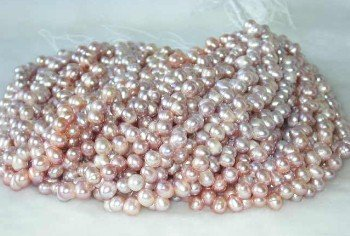 "wholesale 16"""" 7-8mm purple pearl necklace strings"