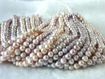 "wholesale 9-10mm 16"""" purple pearl necklace strings"