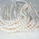 """wholesale 8-9mm 16"""""""" white pearl necklace strings"""