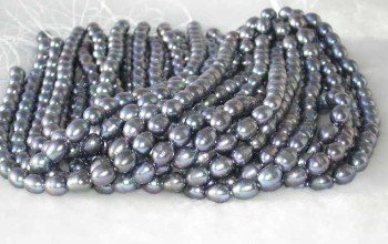 "wholesale 9-10mm 16"""" peacock pearl necklace strings"