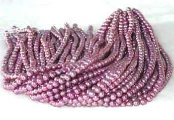 """wholesale 6-7mm 16"""""""" wine-red pearl necklace strings"""