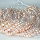 "wholesale 8-9mm 16"""" pink pearl necklace strings"