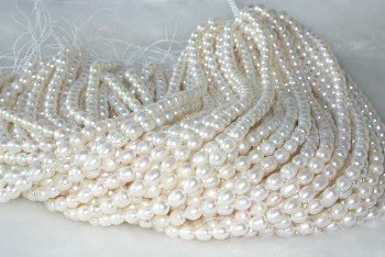 "wholesale 6-7mm 16"""" white pearl necklace strings"