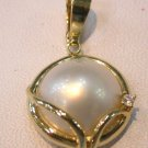 Beauty Brand New Exquisite 14K white mabe pearl pendant