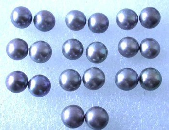 Wholesale 10 pairs 9-9.5mm gray pearl S925 earring