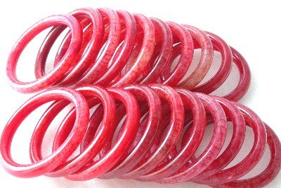 Wholesale 20 pieces 75mm red cock jade bracelet