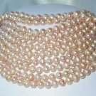 "Wholesale 10 pcs. 17"""" 7-8mm pink pearl necklace"