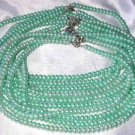 """Wholesale 5 pcs 16"""""""" 6-7mm light green pearl necklace"""