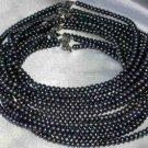 """Wholesale 5 pcs 16"""""""" 6-7mm black pearl necklace"""
