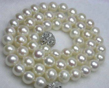 "17"""" lustrous 7-8mm white pearl necklace"