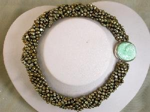 "Beautiful 8rows 16"""" 4-5mm purple Pearl necklace cameo clasp"