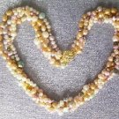 """Beautiful! 16"""""""" 4rows colorful cultured FW pearl necklace"""