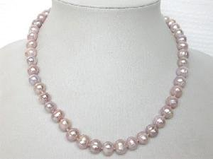 "Beautiful! 16"""" 7.5-8.5mm lavender freshwater pearl necklace"
