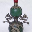 beautiful natural green jade snuff bottle