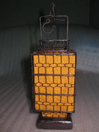 Yellow square orient traditional style lantern