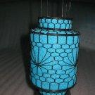 stunning round blue Chinese Culture lantern