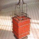 square stunning red Chinese traditional stye lantern