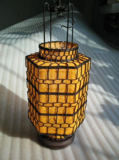 S. hexagon yellow Chinese Culture lantern