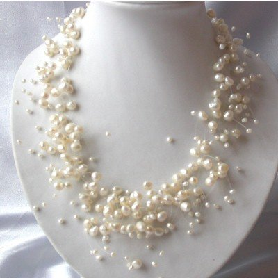 "17.5"""" beauty genuine F/W pearl necklace"