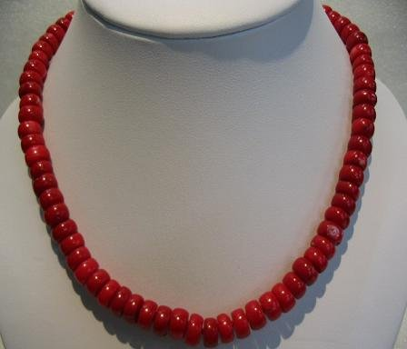 "18"""" charming red coral necklace"