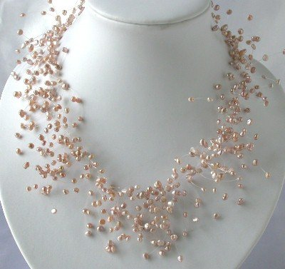 "15""""5-6mm pink F/W pearl necklace"