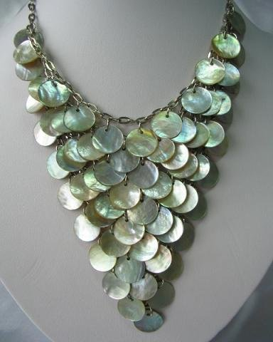 exquisite coin seashell pearl necklace