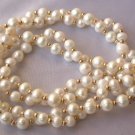 "17.5"""" 6-7mm two strands white pearl necklace"