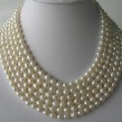 "116"""" super lustrous white FW pearl necklace"