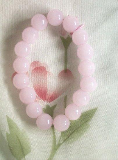 7.5'' 12mm pink jade bracelet