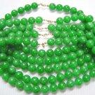 wholesale 5 piece 17'' 12mm Malaysia jade necklace