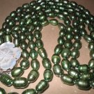 "19""""-23"""" 9-10mm green pearl cameo shell clasp"