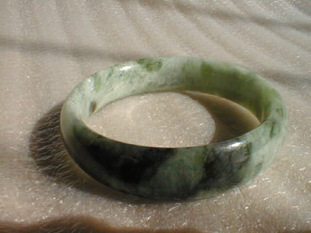 Qingshan light green jade bracelet