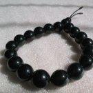 stunning black agate 10mm bead bracelet
