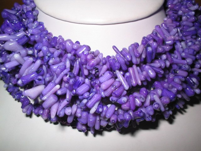 "wholesale 10 pcs 17"""" purple branch coral necklace"