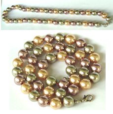 18'' 10MM L.MULTI-COLORS SEA SHELL PEARL