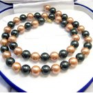 21'' 10MM Coffee Black SEA SHELL PEARL NECKLACE