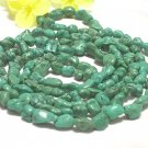 44'' single old green turquoise necklace