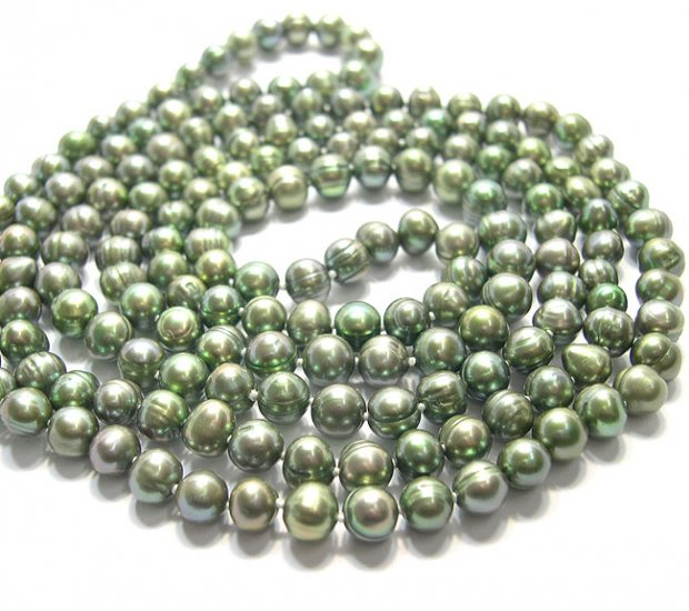 BAROQUE 50'' PEACOCK GENUINE CULTURED PEARL NECKLACE