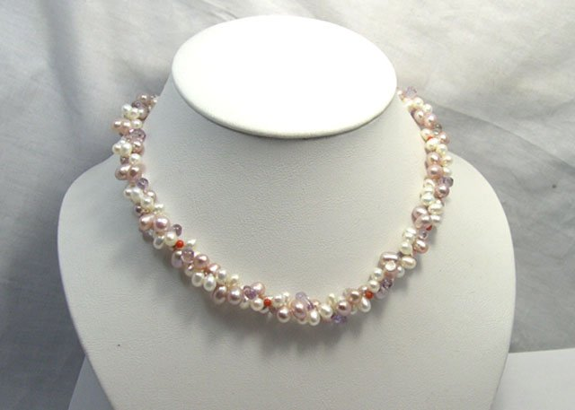 BEAUTIFUL 2ROWS CULTURED PEARL NECKLACE