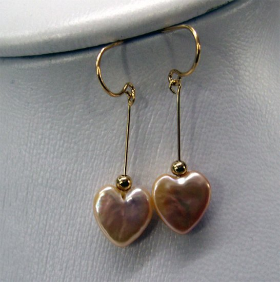 Beautiful golden Cultured PEARL Earring of 18kgp