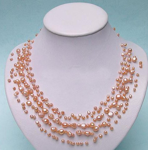 CHARMING PINK GENUINE CULTURED PEARL NECKLACE