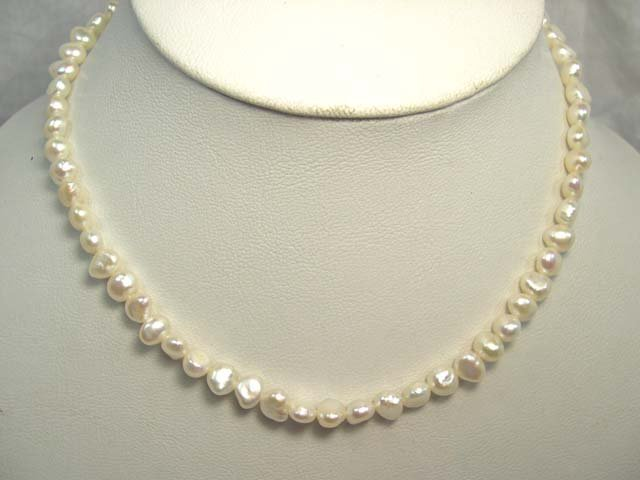CHARMING SINGLE 17'' FW Cultured Pearl Necklace