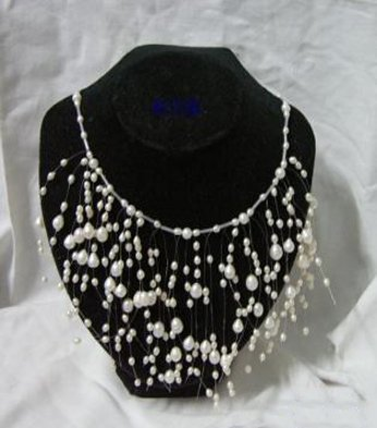 CHARMING WHITE CULTURED PEARL NECKLACE