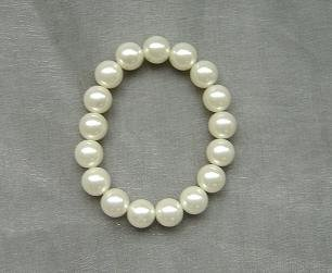 ELEGANT WHITE SOUTH SEA SHELL PEARL BRACELET